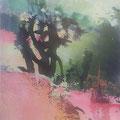 licht im schatten des baumes, 2015, Décalcage on wood, 138 cm x 85 cm  >original available