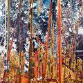 lichtung24, 2008, Décalcage on wood, 205 cm x 130 cm