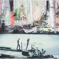 Lichtung 64, 2013, Décalcage on wood, 85 cm x 138 cm