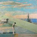 an der stelle - die zeit derstein, 2006, Décalcage on wood,  125 cm x 185 cm