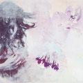 stille freude meine zeit, 2013, Décalcage on wood, 58 cm x 90 cm >original available