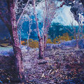 lichtung3, 2008, Décalcage on wood, 130 cm x 205 cm