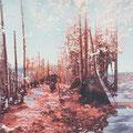 funkloch3, 2013, Décalcage on MDF, 110 cm x 139 cm  >original available