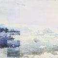 funkloch7, 2013, Décalcage on MDF, 110 cm x 214 cm  >original available