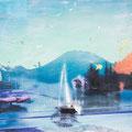 unsichtbar das licht, 2013, Décalcage on wood, 85 cm x 138 cm