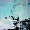senke in der stille mein wort, 2014, Décalcage on wood, 90 cm x 90 cm  >original available