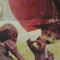 staunend mich, 2003, Décalcage on wood,  80 cm x 80 cm
