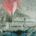blass in der gegend von, 2006, Décalcage on wood,  125 cm x 185 cm