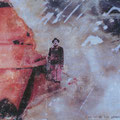 so werde ich gehen, wo noch keiner ging, 2003, Décalcage on wood,  85 cm x 136,5 cm >original available