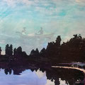 als der regen aufhörte, 2014, Décalcage on MDF, 132 cm x 200 cm  >original available