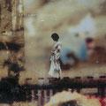 seltsamer gedanke, 2003, Décalcage on wood,  80 cm x 120 cm
