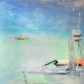 ohne Bewegung, 2014, Décalcage on MDF, 132 cm x 200 cm  >original available