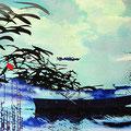 atme ruhig mein, 2014, Décalcage on wood, 85 cm x 138 cm >original available