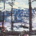 im stillen sein, erleben, 2012, Décalcage on wood, 85 cm x 138 cm