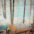 funkeln und mir die Sterne zurück, 2006, Décalcage on wood,  125 cm x 185 cm >original available