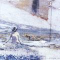 stein und mehr, 2005, Décalcage on wood, 80 cm x 103 cm
