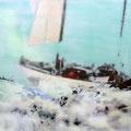 gedanken halten meine hände, 2015, Décalcage on wood, 206 cm x 132 cm  >original available