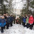 Возложение венка к обелиску в память об участниках Великой Отечественной войны
