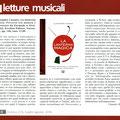 """Recensione sulla Rivista """"Musica"""" (luglio/agosto 2016)"""