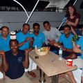Romina, Regula, Benni, Anita und Therese brachten der Crew ein Osterkörbchen