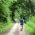 Laufen inmitten der Natur.