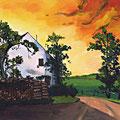 Pergkirchen - altes Gut in der Abendsonne