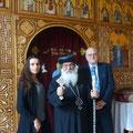 Daniela Rutica, Bischof Anba Damian und Rainer Hannig