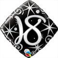 balon czarny 18 foliowy