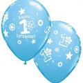 Balon 1 birthday niebieski