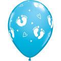 Balony narodziny stópki niebieski