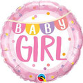 balon z helem baby shower girlanda różowy