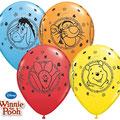 balony z helem kubuś puchatek