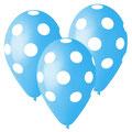 balon z helem grochy niebieskie