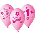 balon mam już roczek różowy