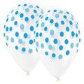 balon nadruk konfetti niebieski