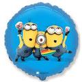 Balon z helem okrągły minionki