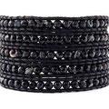 Bracelet WHAT A MESS  Onyx et Swarovski 5 tours 95€