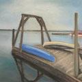 Blaues Schiff, 50 x 70 cm
