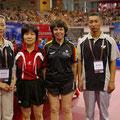 Jutta vor dem Halbfinale gegen die spätere Weltmeisterin aus Japan