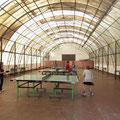 Eifriges Training in der Tischtennisarena