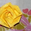 rose de juin: jaune double symbole de la chaleur et de la joie pour l'amitié mais en amour, attention à l'infidélité!