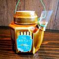 SL大沼号車内で購入した限定弁当についているお茶。この容器でお酒をいただいちゃお♡