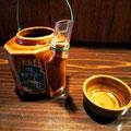 先日の「SL旅」のお茶容器。これでお酒をいただいちゃいます。