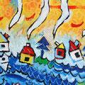"""""""vento e pioggia"""" acrilico su lamiera - 5 pannelli da cm30x50 (4)"""