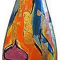 ..acrilici su vetro e tratto in carboncino