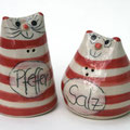 Salzstreuer Katzenpaar Artikel - Nr. 2328/  24,- €