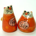 Salzstreuer Katzenpaar rot /Artikel - Nr. 2316 /  24,- €
