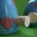Salz/ Pfeffer Vogelpaar Artikel - Nr. 2005 / 19,- € - Korkenverschluß