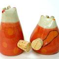 Salzstreuer Katzenpaar rot / Artikel - Nr. 2316
