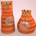 Salzstreuer Katzenpaar Artikel - Nr. 002/ 22,- €